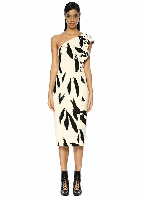 673f5d4ed2d10 Beymen Collection Kadın Tek Omzu Volanlı Midi Elbise Kemik | Morhipo |  22293572